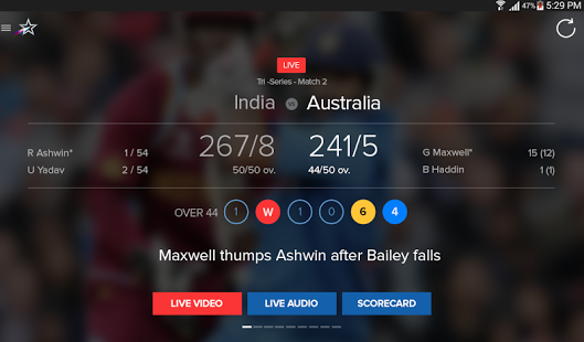 yahoo cricket live score software