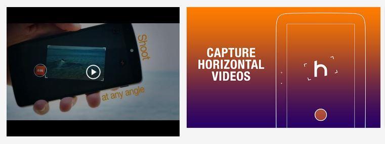 Horizontal Camera app