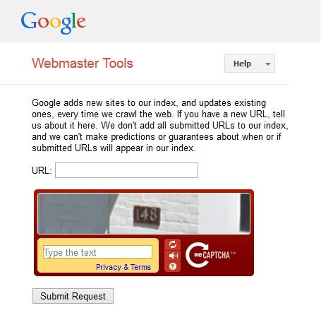 submit your website via webmaster tools