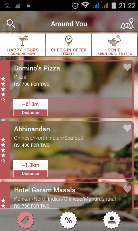 Restaurants on oTAG
