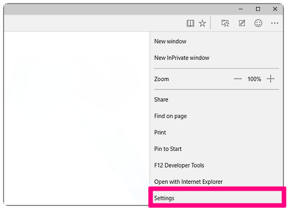 Settings menu of the new Microsoft Edge