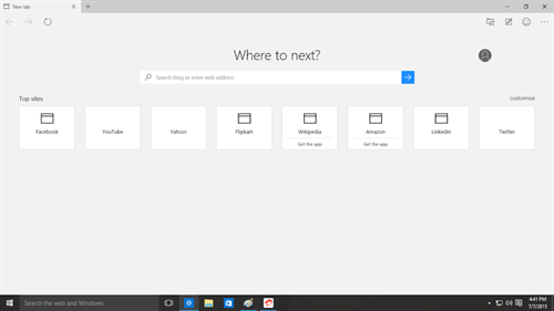 Where to next on Microsoft Edge