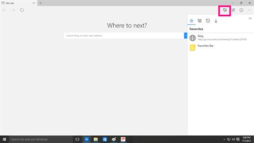 The Hub on Microsoft Edge