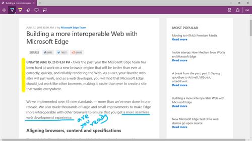 Pen tool on Microsoft Edge