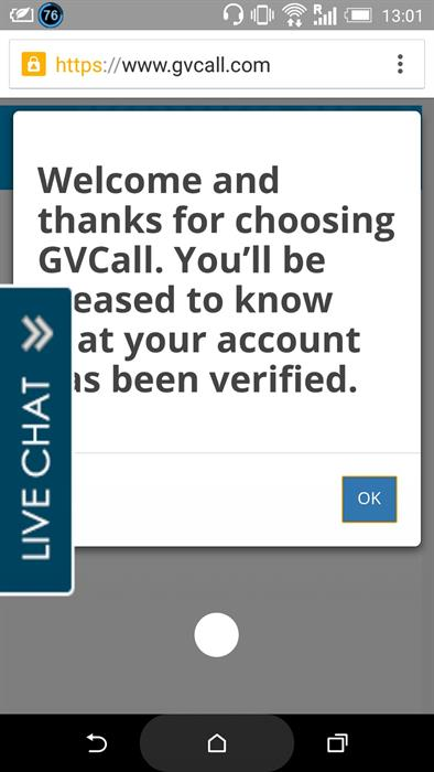Acount validation GVCall