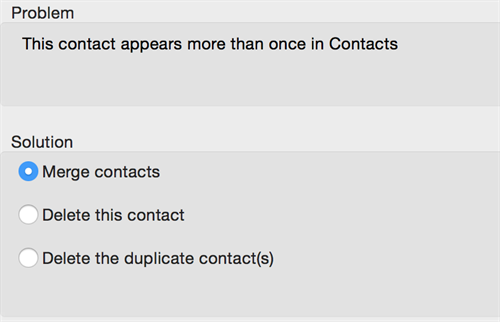 Duplicate Contact
