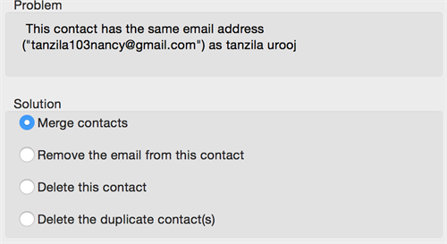 Same Email Address