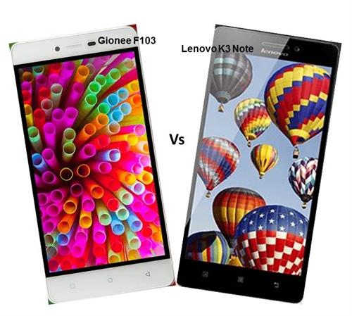 Gionee F103 Vs Lenovo K3 Note