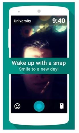 Snap Me Up alarm app