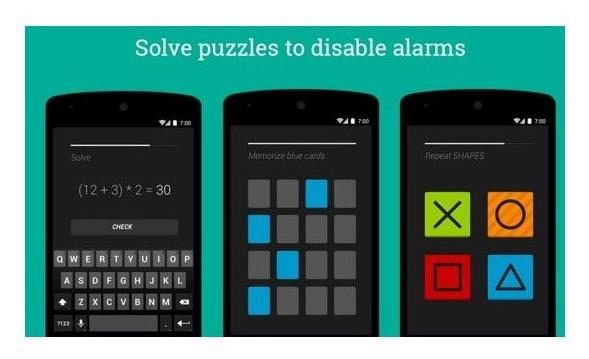 Puzzle alarm app