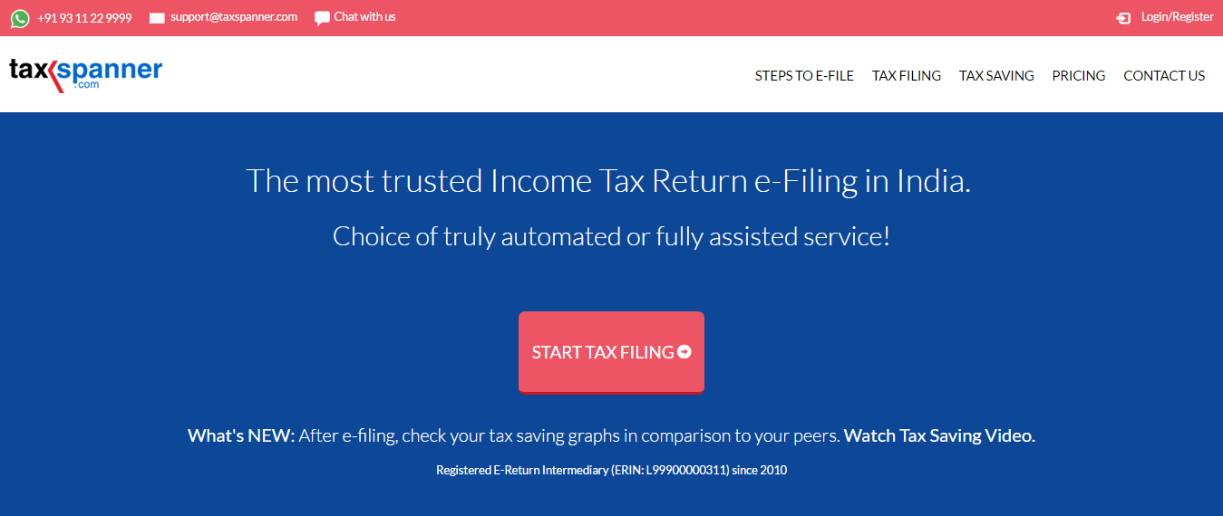 Best websites to e-file income tax returns TaxSpanner
