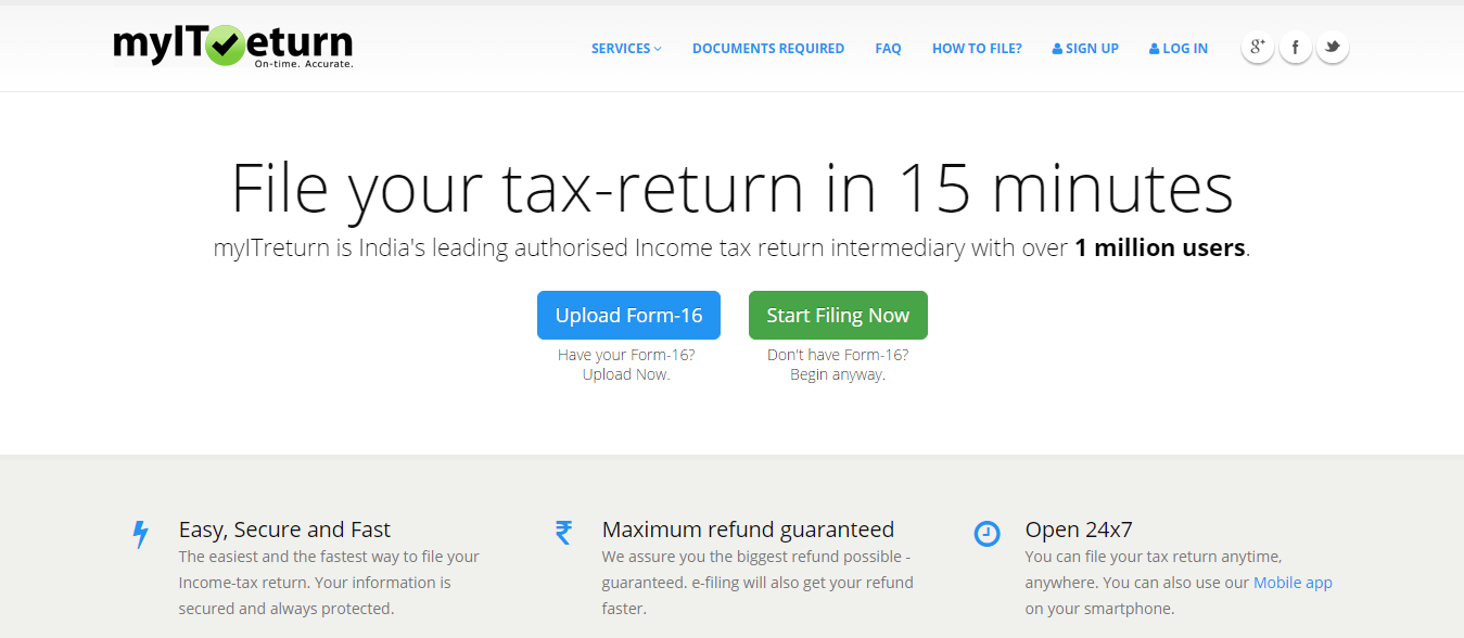 Best websites to e-file income tax returns-myitreturn