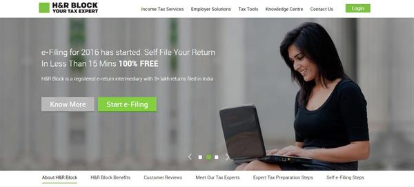 How to use H&R Block to E-File Income Tax Returns (ITR)