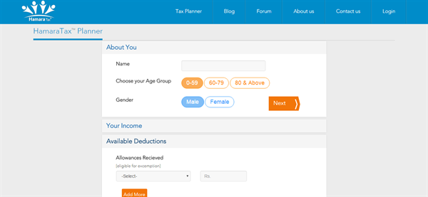 Calculate your income tax as per new Budget-Tax Planner by HamaraTax