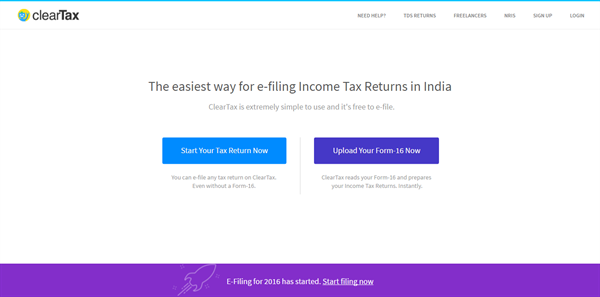 How to use ClearTax to efile income tax in India