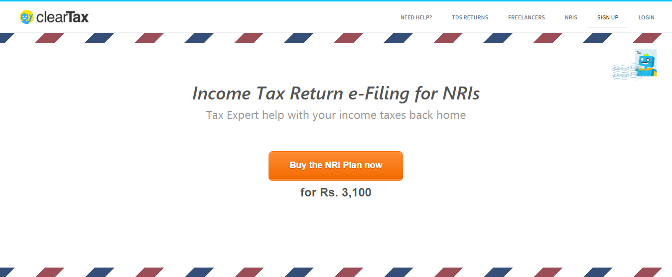 Non-Resident Indian Income Tax Return using Cleartax