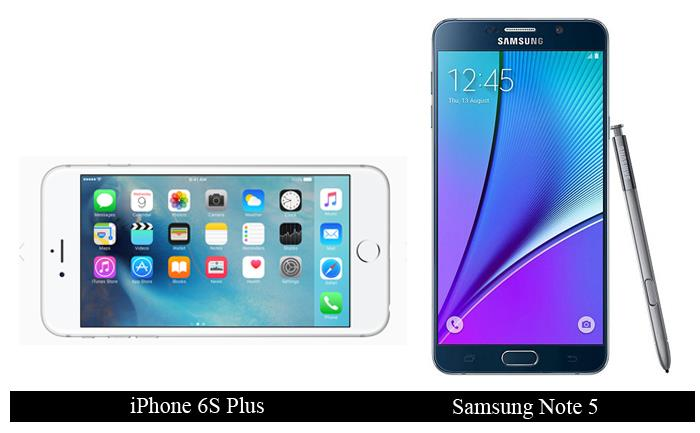 iphone 6s plus vs samsung note 5