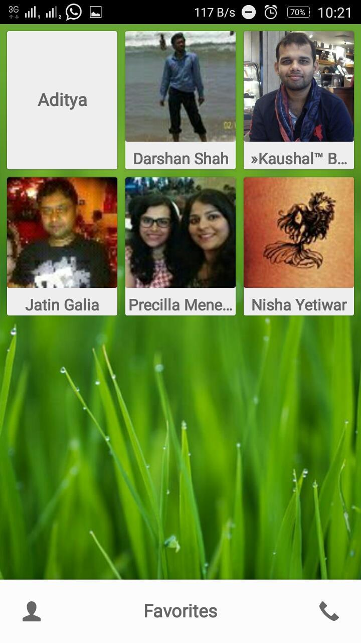 Favorites menu PixelPhone