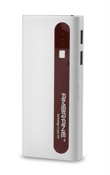 5_Power Bank_AMBRANE 13000 MAH POWER BANK P-1310 White & Brown
