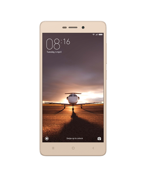 Xiaomi Redmi 3S Gold Front view