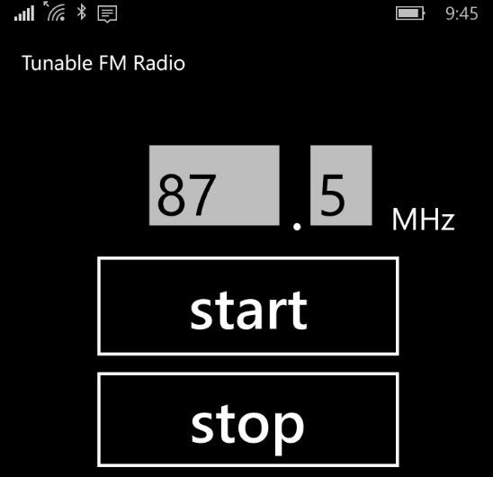 Tunable FM