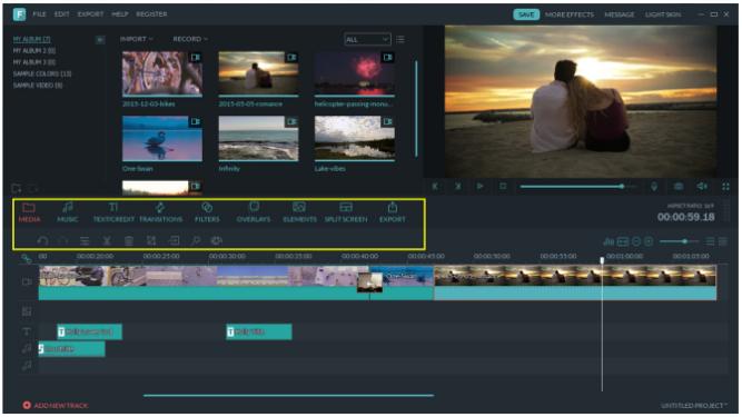 Filmora 7.8 video editing tool