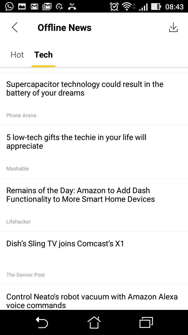 Offline tech news