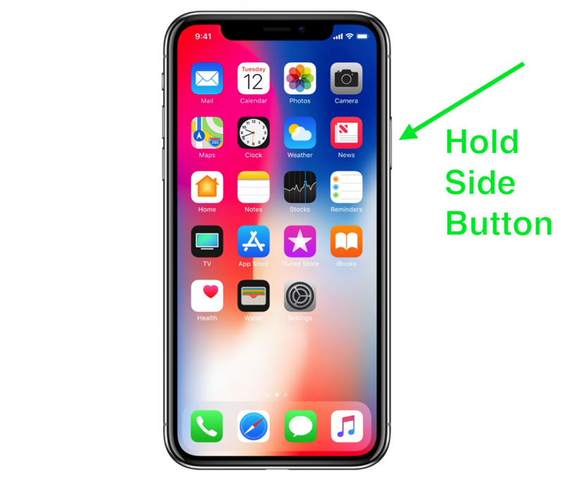 iPhone X Siri button