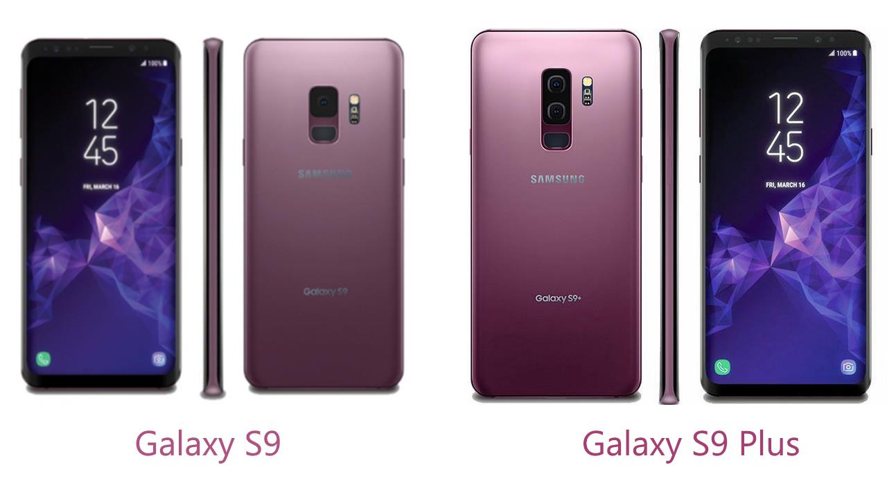 Galaxy S9 vs S9 Plus Design