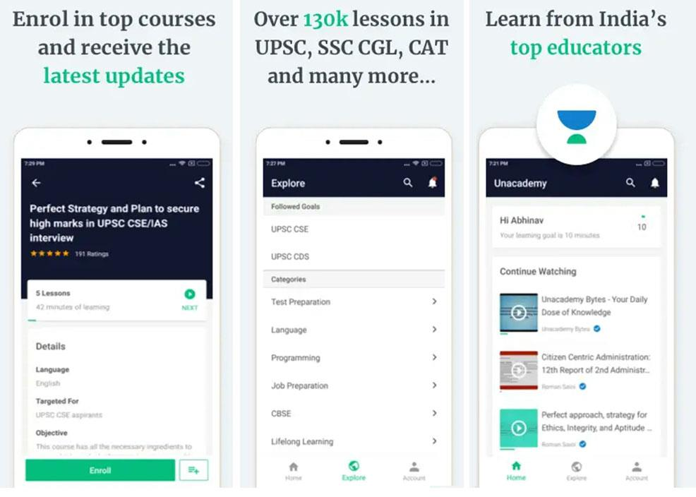 unacademy civil services app