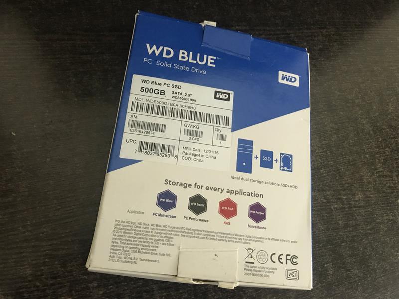WD Blue SSD Box back