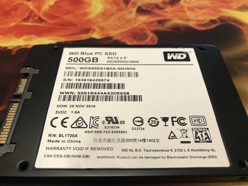 SSD serial numbers