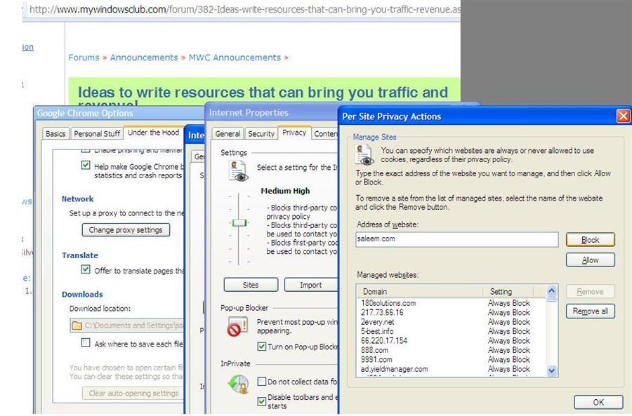 Blogging a Website in Google Chrome