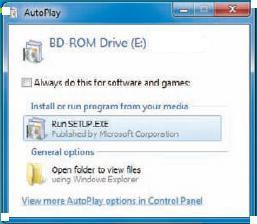 Program Installation in windows 7
