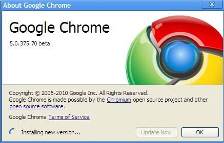 Google Chrome: Chrome 5.0.375.86 Update - Step 3