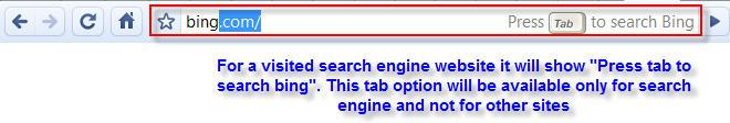 Google chrome search in address bar