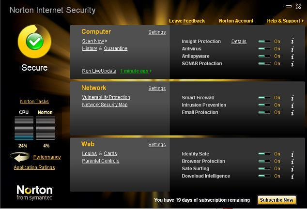 Norton internet security 2010