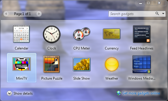 Top 10 Sidebar Gadgets for your Windows 7 PC