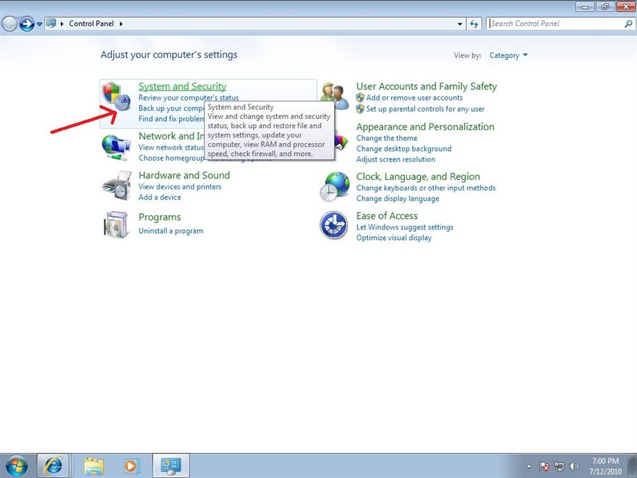 how to open control panel in windows 8.0