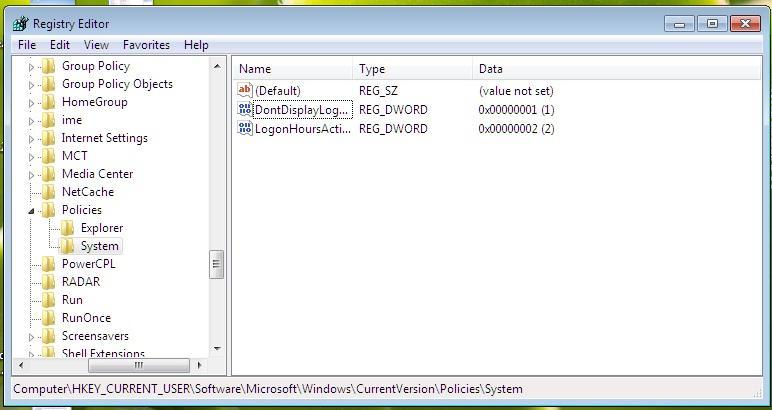 registry group keys in windows
