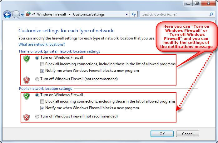 Windows 7 Firewall customization