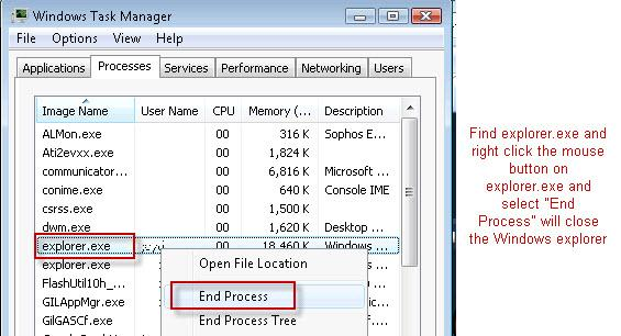 Windows Explorer close