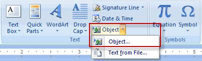 Select object button