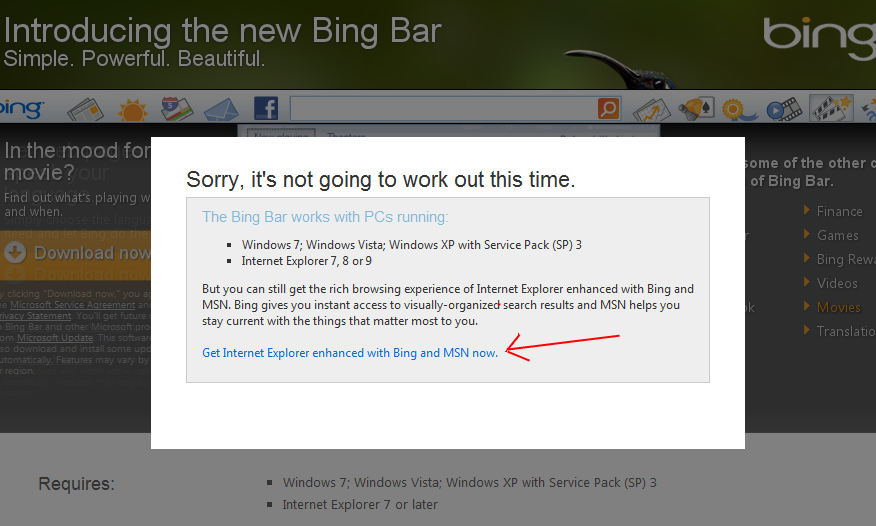 Bing Bar for Google Chrome