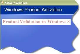 Windows 8 product Activation procedure