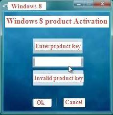 Affects caused by incomplete product activation in Windows 8