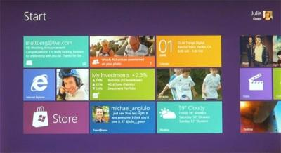 Windows 8 - new start screen with Live Tiles