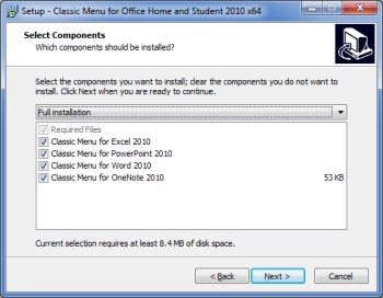 Install classic menu for MS Word, Excel, Powerpoint and Office 2010 products