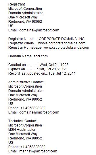 socl.com doman registration - social networking website from Microsoft?