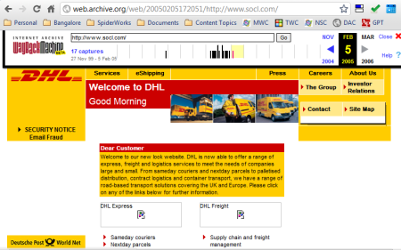 socl.com was used by DHL